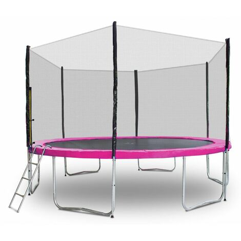 Gartentrampolin Trampolin 400cm Modell 2019 Randabdeckung Pink