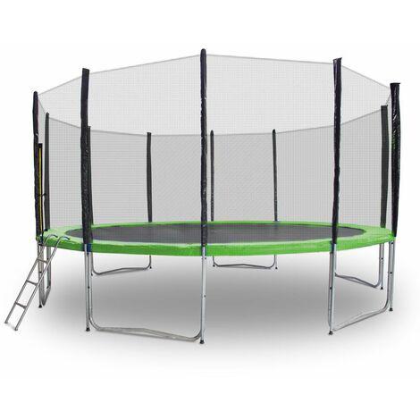 Gartentrampolin Trampolin 490cm Modell 2019 Randabdeckung Hellgrün