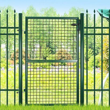 Gartentür Gartentor Wellengitter Tür Inkl. Schloss 150 x 106cm GGD200G