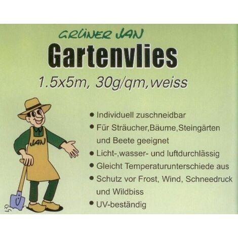 Gartenvlies Grüner Jan 1,5 x 5m Weiss