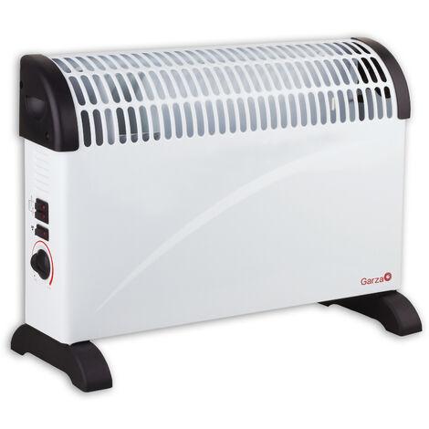 Garza Kalima Turbo - Calefactor convector con termostato regulable, 2000W