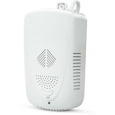 Garza Power - Detector de Gas, alarma de 85 decibelios, botón test, Blanco