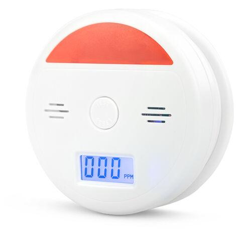 Garza Power - Detector de Monoxido de Carbono, alarma 85 decibelios, botón test, Pilas incluidas