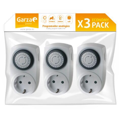 Garza Power - Temporizador analógico Mini, pack de 3 unidades