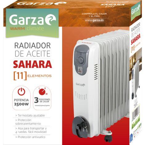 Garza Sahara - Radiador de aceite de 11 elementos con ruedas, potencia 2500W