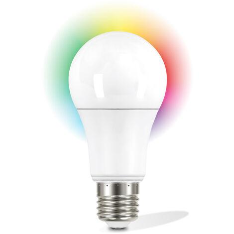 Garza Smarthome - Bombilla LED WiFi CCT + RGB 12w Estandar E27 inteligente y programable, cambio de Intensidad + Tonalidad + Color, control por voz y app, Alexa, iOS, Google, Android