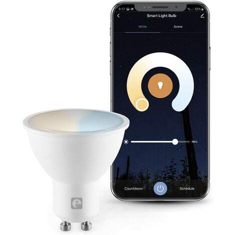 Garza Smarthome - Bombilla LED WiFi inteligente y programable, cambio de Intensidad y Tonalidad, control por voz y app, Alexa, iOS, Google, Android