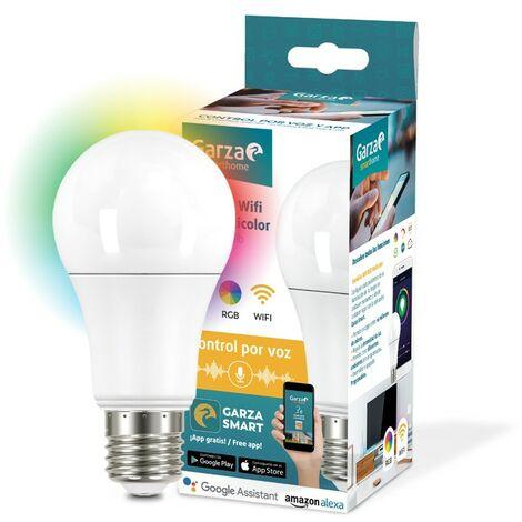Garza Smarthome - Bombilla LED WiFi RGB Alexa, 9 W, Multicolor, 70 X 135 Mm