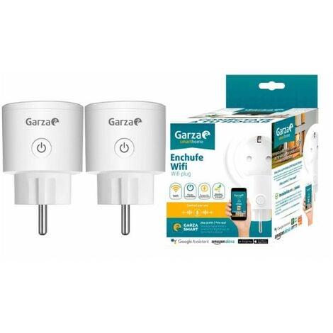 Garza Smarthome - Enchufe wifi inteligente programable compatible con Alexa y Google Home. Enchufe programador temporizador de domótica - Pack 2 unds