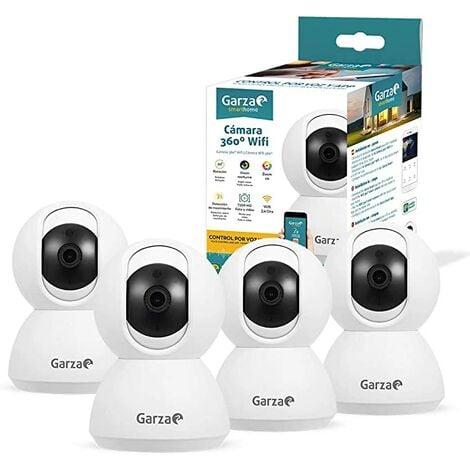 Garza Smarthome - Pack 4 Cámaras Vigilancia HD WiFi 360º