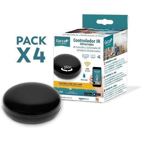 Garza Smarthome - Pack de 4 Controladores Inteligentes IR Infrarrojos