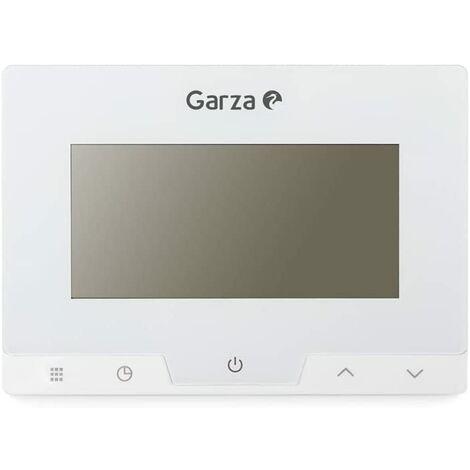 Garza - Termostato digital programable para caldera y calefacción. Cronotermostato controlador de temperatura táctil.