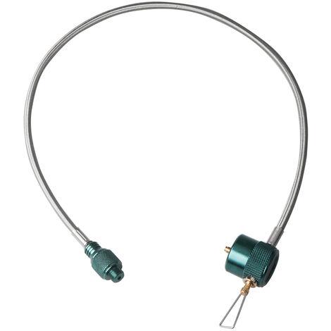 Gas al aire libre estufa de gas propano estufa de camping Refill tubo del quemador a gas cilindro plano deposito de la botella adaptador de acoplamiento