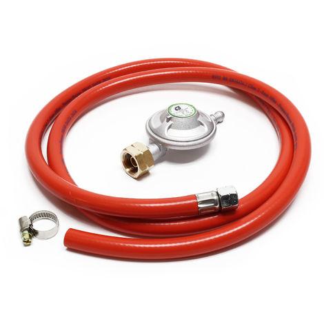 Gas Hose 1.5m with Pressure Regulator 28mbar regulates Gas Pressure Italy