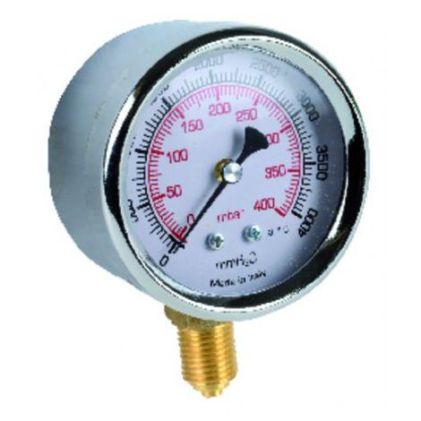 "Gas manometer 0 to 400bars ø 63mm m1/4"""