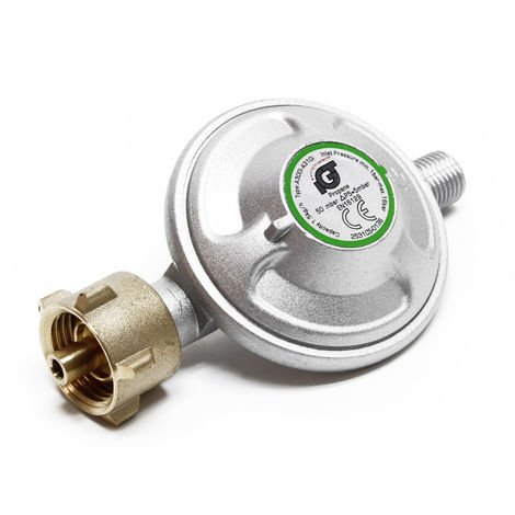 Gas Pressure Reducer Reduces to 50mbar, 1.5kg/h, for 21.8x1.14L Cylinders