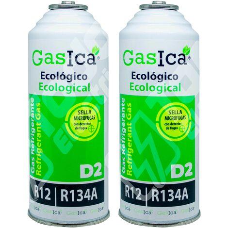 Gas refrigerante orgánico GASICA D2 sustituto R12/R134a 311.8gr