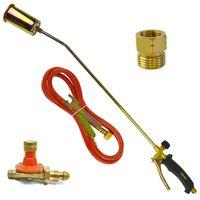 Gas Torch Burner 2m Hose Roofer Plumber Weed Propane & Regulator