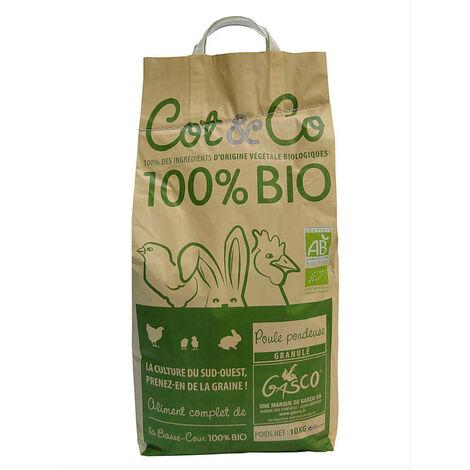 Gasco - Alimentation Cot&Co Bio pour Poules Pondeuses -10Kg