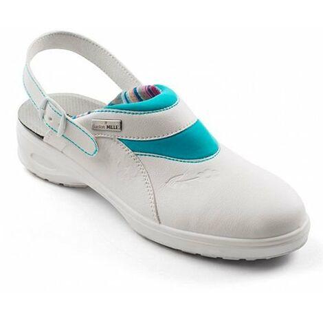 Gaston Mille - Sabot de sécurité | Chaussure Femme | Légères et Respirantes | Traitement Antibactérien | Fabrication Française | SRC ESD