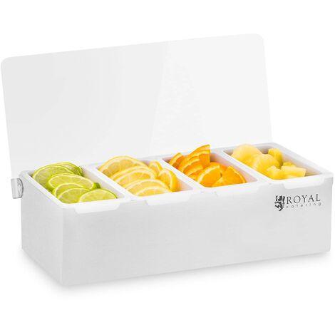 Zutatenbehälter Gastro GN 1 4 4 Einsätze Zutatenbox Gastronomie Mixen Wechselbar