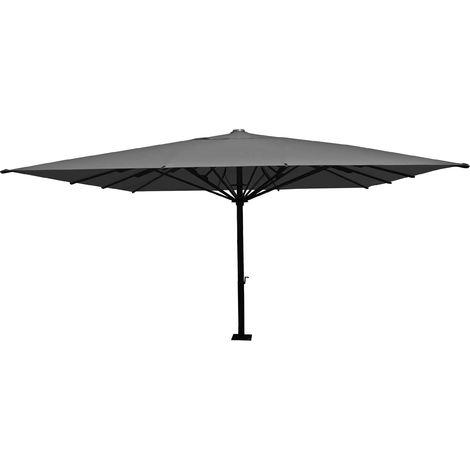 Gastronomie-Luxus-Sonnenschirm HHG-554, XXL-Schirm Marktschirm, 5x5m (Ø7,2m) Polyester/Alu 75kg