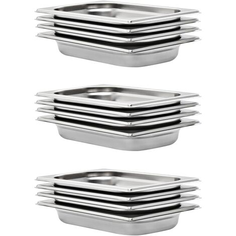 Gastronorm Containers 12 pcs GN 1/4 40 mm Stainless Steel