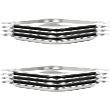 Gastronorm Containers 8 pcs GN 1/2 20 mm Stainless Steel