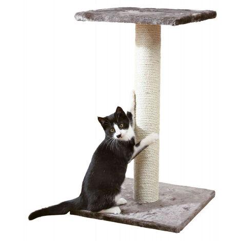 Gato árbol, 40 por 40 cm, altura 69 cm, Espejo, color gris platino.