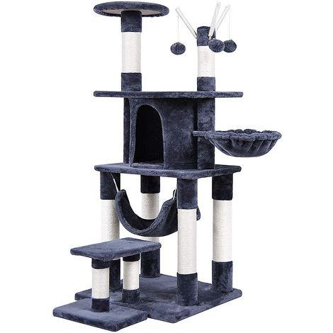 Gato árbol para gatos 151 cm árbol para gatos antracita natural árbol para gatos cueva para gatos