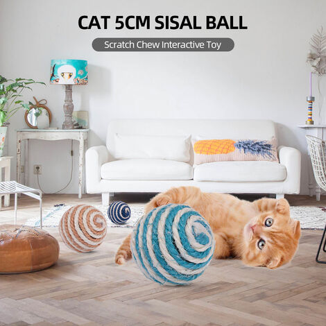 Gato del juguete de la bola de sisal, Cat Scratch Chew Toy interactivo