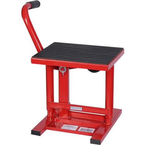 Gato elevador para motocicletas de hasta 135 kg Taller mecánico Reparación moto Altura 31-41 cm