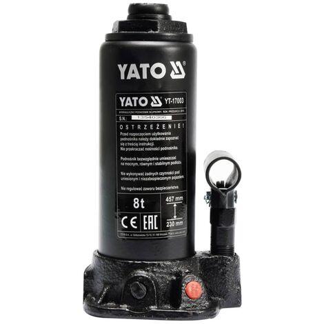 Gato Hidráulico de Botella YATO de 8 Toneladas YT-17003
