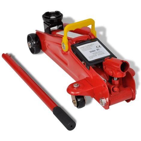 Gato hidráulico de suelo carrito rojo 2 toneladas