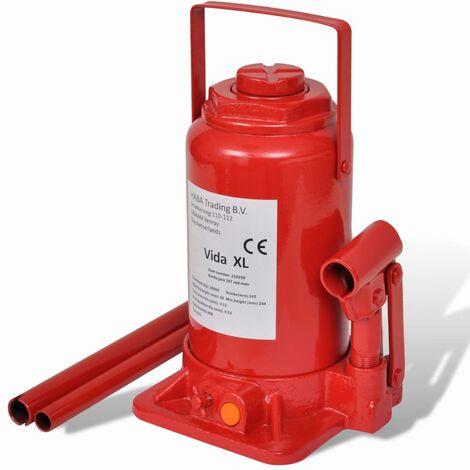 Gato hidráulico elevador de coche 2 toneladas rojo