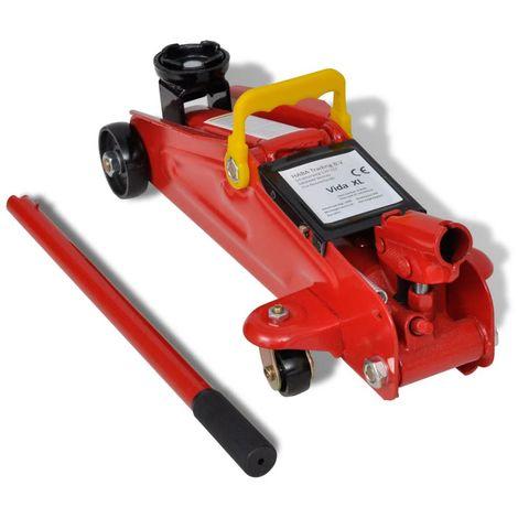 Gato Hidraulico Rojo De Suelo Tranvia 2 Toneladas (no se puede enviar a Baleares)