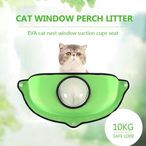 Gatos ventana perca hamaca, para HASTA 10KG 22lbs,verde