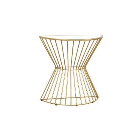 Gatsby Demilune Console Gold with Glass Top
