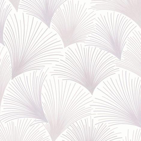Gatsby Fan Mauve Wallpaper Pink Glitter Vinyl Grandeco