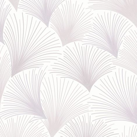 Gatsby Fan Wallpaper Mauve