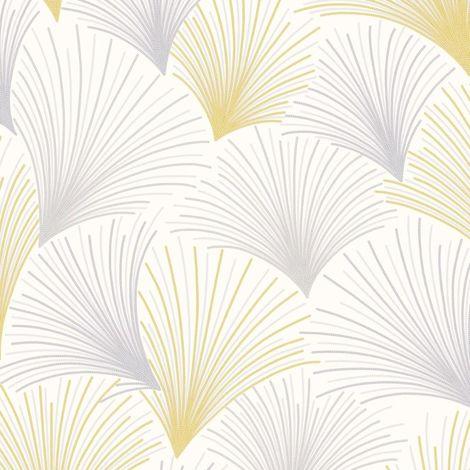 Gatsby Fan Wallpaper Yellow