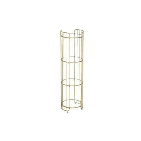 Gatsby Round Shelf unit Gold with Glass Shelves