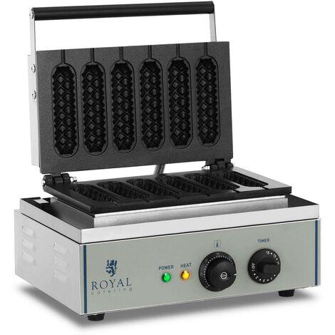Gaufrier Électrique À Épi Plaque Téflon Professionnel Inox 1500W Pro 230V F
