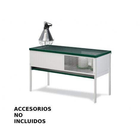 GAUN Jaula criadora pollitos rectangular sin accesorios mm. 1027 x 477 x 965 h. - Comp.: 945 x 450 x 245 h.