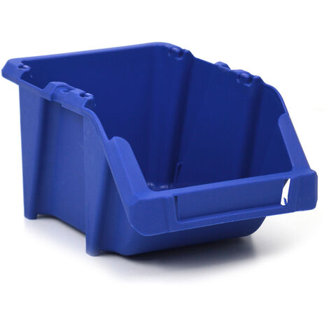 Gaveta de plástico apilable azul 10.3x16.5x7.6 cm