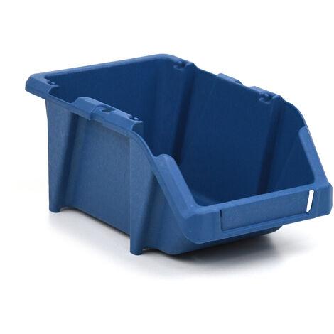 Gaveta de plástico apilable azul 12.5x19.5x9 cm