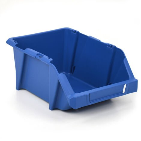 Gaveta plástica apilable azul 20x30x13 cm