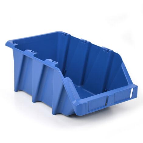 Gaveta plástica apilable azul 21.8x36x15.6 cm