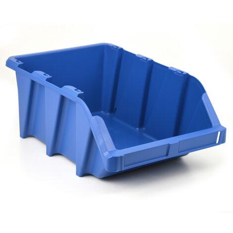 Gaveta plástica apilable azul 31x49x19.5 cm