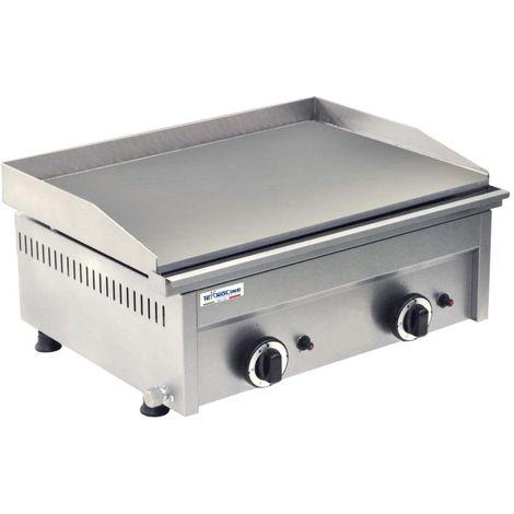 Gaz de friture avec double plaque lisse cm 60x45x27.5 teknoline FRT2G-L